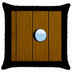 Over the fence  Throw Pillow Case (Black)