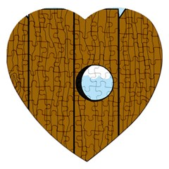 Over the fence  Jigsaw Puzzle (Heart)