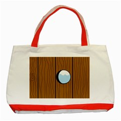 Over the fence  Classic Tote Bag (Red)