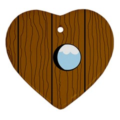 Over the fence  Heart Ornament (2 Sides)