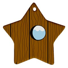 Over the fence  Star Ornament (Two Sides)