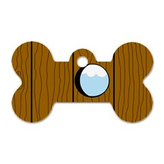 Over the fence  Dog Tag Bone (Two Sides)