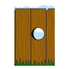 Over the fence  Shower Curtain 48  x 72  (Small)