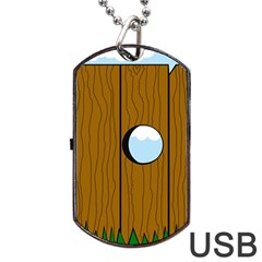 Over the fence  Dog Tag USB Flash (One Side)
