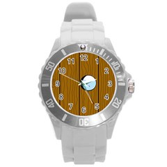 Over the fence  Round Plastic Sport Watch (L)