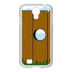 Over the fence  Samsung GALAXY S4 I9500/ I9505 Case (White)