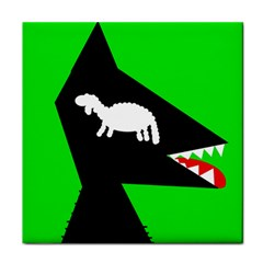 Wolf And Sheep Tile Coasters