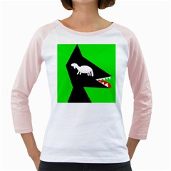Wolf And Sheep Girly Raglans