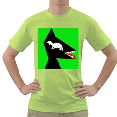 Wolf And Sheep Green T Shirt