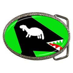 Wolf and sheep Belt Buckles
