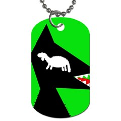 Wolf and sheep Dog Tag (One Side)