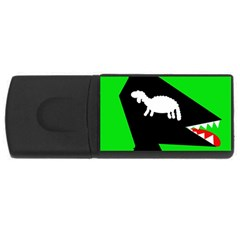 Wolf and sheep USB Flash Drive Rectangular (1 GB)