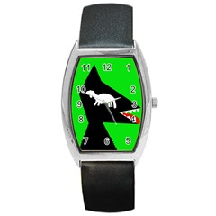 Wolf and sheep Barrel Style Metal Watch