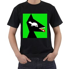 Wolf and sheep Men s T-Shirt (Black) (Two Sided)