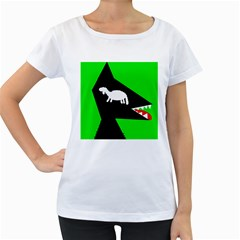 Wolf and sheep Women s Loose-Fit T-Shirt (White)