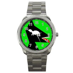 Wolf and sheep Sport Metal Watch