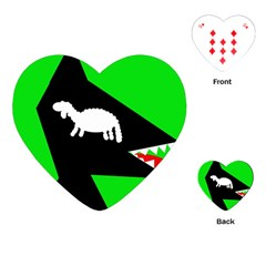 Wolf and sheep Playing Cards (Heart)