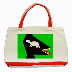 Wolf and sheep Classic Tote Bag (Red)
