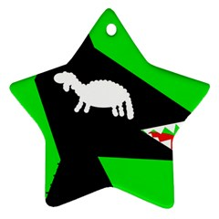 Wolf and sheep Star Ornament (Two Sides)