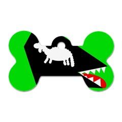 Wolf and sheep Dog Tag Bone (One Side)