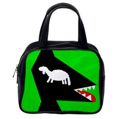Wolf and sheep Classic Handbags (One Side)