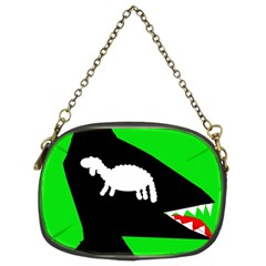 Wolf and sheep Chain Purses (Two Sides)