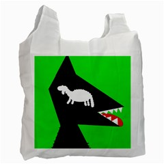 Wolf and sheep Recycle Bag (Two Side)