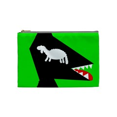 Wolf and sheep Cosmetic Bag (Medium)