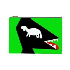 Wolf and sheep Cosmetic Bag (Large)