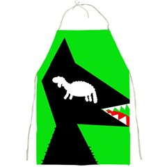 Wolf and sheep Full Print Aprons