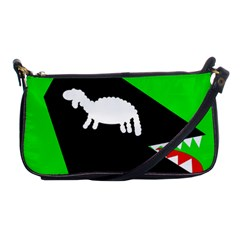 Wolf and sheep Shoulder Clutch Bags