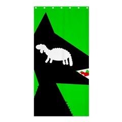 Wolf and sheep Shower Curtain 36  x 72  (Stall)