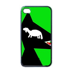 Wolf and sheep Apple iPhone 4 Case (Black)