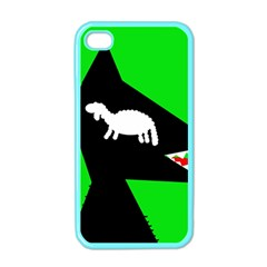 Wolf and sheep Apple iPhone 4 Case (Color)