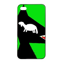 Wolf and sheep Apple iPhone 4/4s Seamless Case (Black)