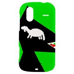 Wolf and sheep HTC Amaze 4G Hardshell Case