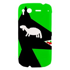 Wolf and sheep HTC Desire S Hardshell Case