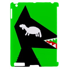Wolf and sheep Apple iPad 2 Hardshell Case (Compatible with Smart Cover)