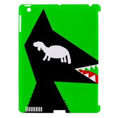 Wolf and sheep Apple iPad 3/4 Hardshell Case (Compatible with Smart Cover)