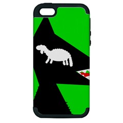 Wolf and sheep Apple iPhone 5 Hardshell Case (PC+Silicone)