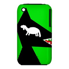 Wolf and sheep Apple iPhone 3G/3GS Hardshell Case (PC+Silicone)
