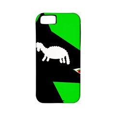 Wolf and sheep Apple iPhone 5 Classic Hardshell Case (PC+Silicone)
