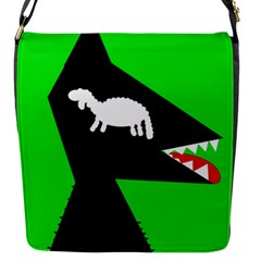 Wolf and sheep Flap Messenger Bag (S)