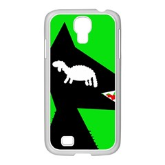 Wolf and sheep Samsung GALAXY S4 I9500/ I9505 Case (White)