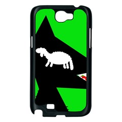 Wolf and sheep Samsung Galaxy Note 2 Case (Black)