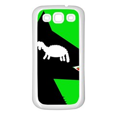 Wolf and sheep Samsung Galaxy S3 Back Case (White)
