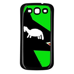 Wolf and sheep Samsung Galaxy S3 Back Case (Black)