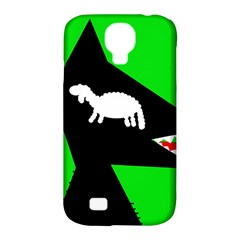 Wolf and sheep Samsung Galaxy S4 Classic Hardshell Case (PC+Silicone)