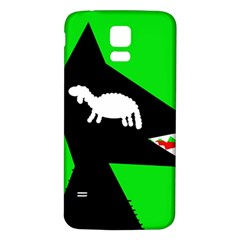 Wolf and sheep Samsung Galaxy S5 Back Case (White)