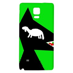 Wolf and sheep Galaxy Note 4 Back Case